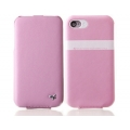 Zenus Leather Folder Case for Apple iPhone 4 [Candy Pink]